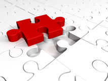 A piece of red puzzle Royalty Free Stock Images