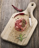 Piece Of Red Raw Meat Steak Royalty Free Stock Photo