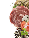 Piece Of Red Raw Meat Steak Royalty Free Stock Image