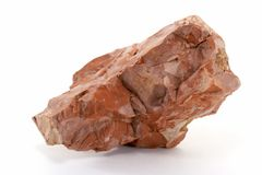 Piece of Red Rock. Royalty Free Stock Image