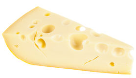 Piece of ripened swiss cheese Stock Photography