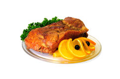 A piece of roasted meat Stock Photo