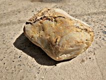 Piece of Rock on the ground stock images