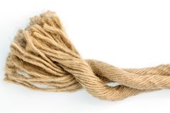 Piece of rope Stock Photo