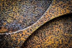 Piece of rusted iron Royalty Free Stock Photo