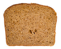 Piece of rye bread. A slice of the loaf of rye bread isolated on white background Stock Images