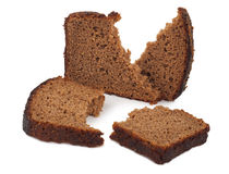 A piece of rye bread Royalty Free Stock Photography