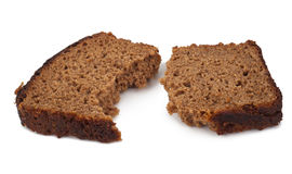 A piece of rye bread Stock Photos