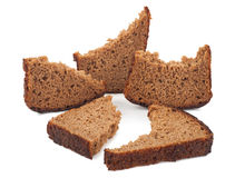 A piece of rye bread Stock Image