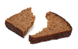 A piece of rye bread Royalty Free Stock Image
