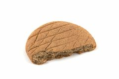 Piece of a rye flat cake Royalty Free Stock Photo