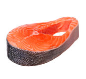 Piece of salmon isolated Stock Images