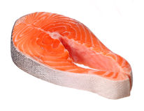 Piece of salmon isolated Royalty Free Stock Photo