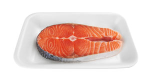 Piece of a salmon Stock Photo