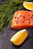 Piece of salmon Stock Photos