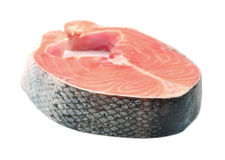 Piece of a salmon Stock Photos