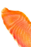 Piece of salmon on white. Close up Royalty Free Stock Images