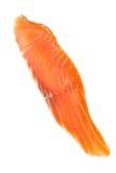 Piece of salmon on white. Close up Stock Photo