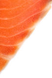 Piece of salmon on white. Close up Stock Image