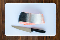 Piece of salmon stock photo