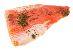 Piece of salty rainbow trout Royalty Free Stock Photo