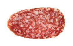 Piece of sausage. Stock Photos