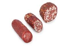 Piece of sausage Stock Image