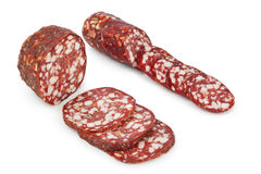 Piece of sausage Royalty Free Stock Photos