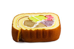 Piece of scotch roll cake Royalty Free Stock Photography