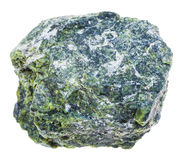 Piece of serpentine stone isolated Royalty Free Stock Photos
