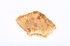Piece of shortbread cake on a white background Stock Image