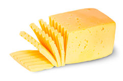 Piece Of Sliced Cheese Stock Images