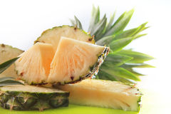 Piece of slicing pinapple Stock Photography