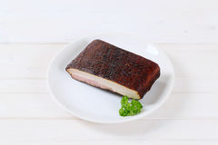 Piece of smoked bacon Royalty Free Stock Photos