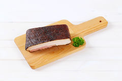 Piece of smoked bacon Royalty Free Stock Images