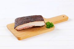 Piece of smoked bacon Royalty Free Stock Photography