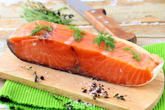 Piece of smoked salmon Royalty Free Stock Photos