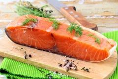 Piece of smoked salmon Royalty Free Stock Photos