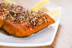 Piece of Smoked Salmon Royalty Free Stock Photo