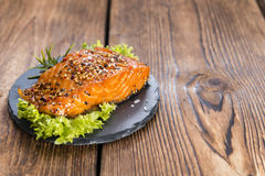 Piece of Smoked Salmon Royalty Free Stock Photo
