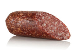 Piece of smoked sausage Royalty Free Stock Images