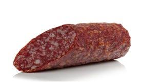 Piece of smoked sausage Stock Image