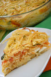 Piece of spaghetti pie Royalty Free Stock Images