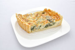 Piece of Spinach Tarts Royalty Free Stock Photography