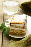 Piece of sponge cake with caramel Stock Photography
