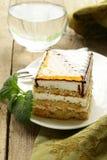 Piece of sponge cake with caramel Stock Photography