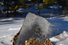 Piece of spring ice royalty free stock photos
