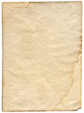Piece of stained paper Royalty Free Stock Images