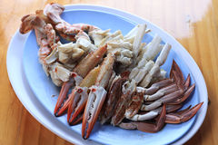 Piece of steamed crab Stock Image