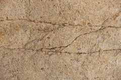 Piece of stone with cracks Stock Image